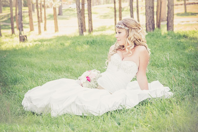 Beautiful, Woman, Bride, Bouquet, Gorgeous