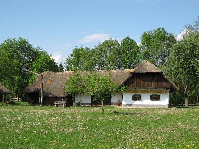 Farmhouse, Farm, Grass Roof, Agriculture, Gorišnica