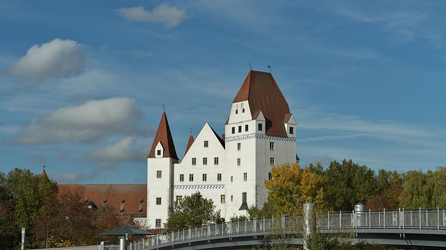 New Castle, Ingolstadt, Building, Gothic, Architecture