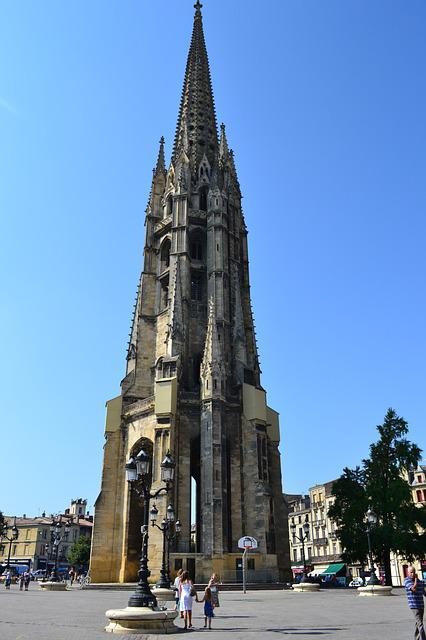 Bordeaux, Bell Tower, Bell Stone, Church, Gothic
