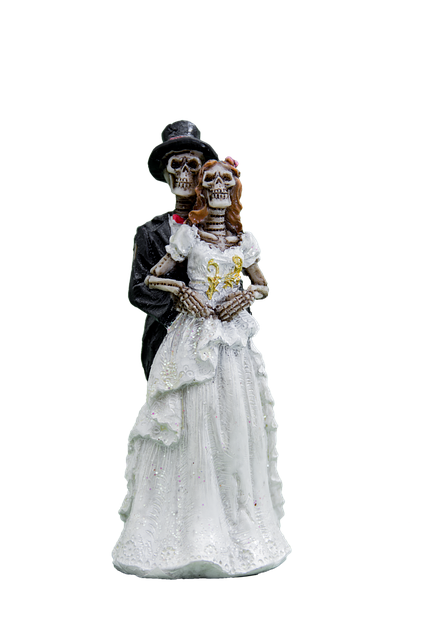 Bride And Groom, Skeleton, Png, Gothic, Isolated, White
