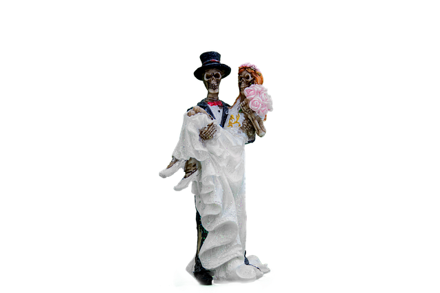 Bride And Groom, Skeleton, Gothic, Isolated, Png, White