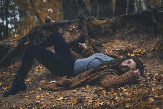 Fire, Autumn, Shaman, Girl, Twilight, Forest, Gothic