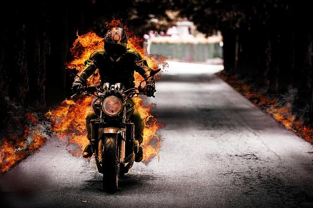 Biker, Flames, Supernatural, Danger, Halloween, Gothic