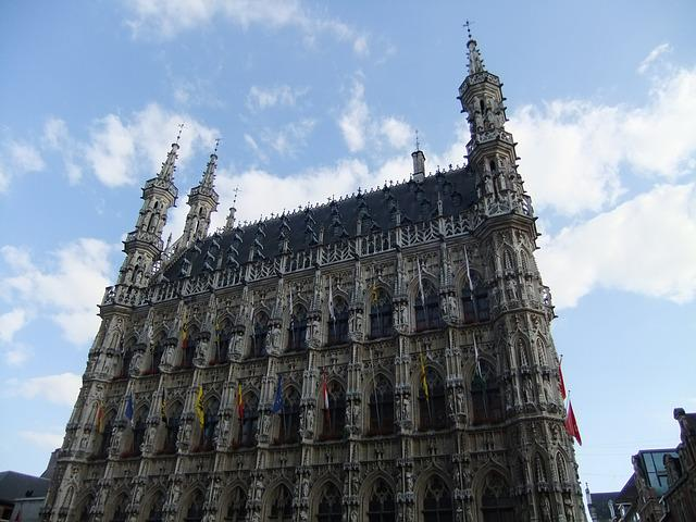 Town Hall, Leuven, Gothic, Historic Old Town