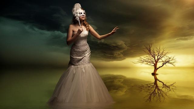 Gothic, Fantasy, Dark, Woman, Girl, Lady, Masked
