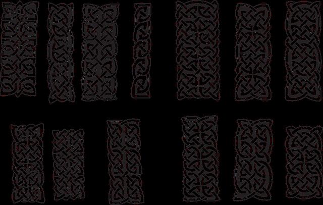 Columns, Goticas, Vector, Celtic, Patterns