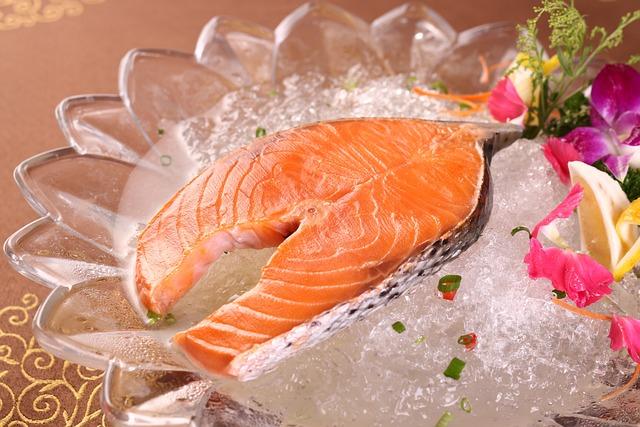 Seafood, Fresh, Salmon, Food, Gourmet