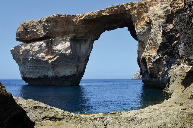 Sea, Rock, Gozo, Booked, Diving, Swim, Rock Formations
