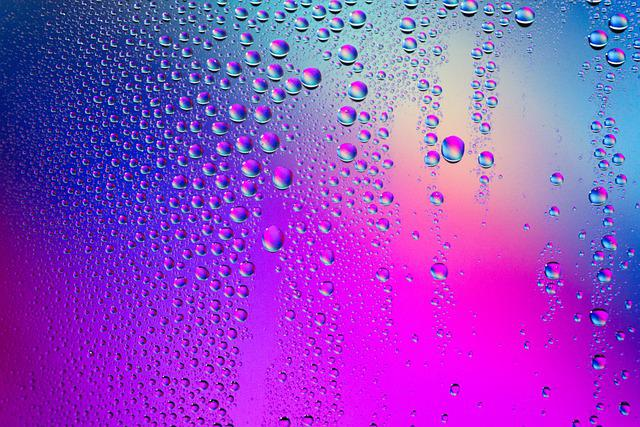 Water Drops, Gradient, Background, Pink, Purple