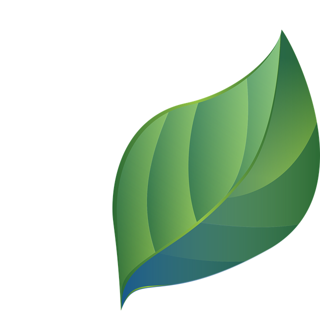 Leaf, Blue Green, Stylized, Gradients, Eco, Bio