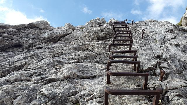 Climbing, Alpspitze, Head, Kicks, Gradually, Away