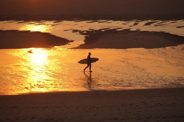 Beach, Sunset, Gradually, Biscarrosse, Atlantic, Dune