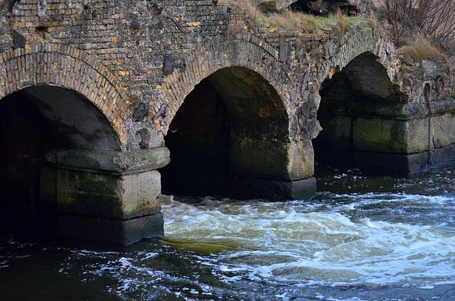 Weir, River, Building, Murmur, Inject, Gradually