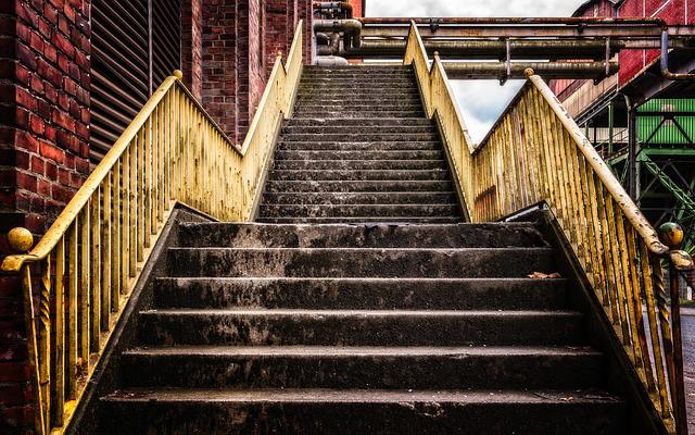 Stairs, Upward, Gradually, Rise, Staircase