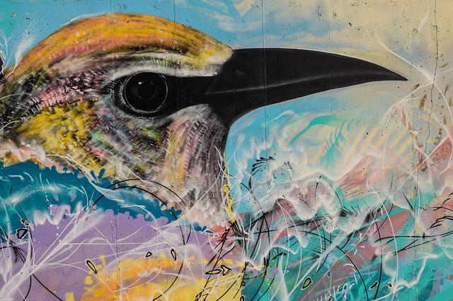 Graffiti, Colorful, Graffiti Wall, Bird, Cyprus