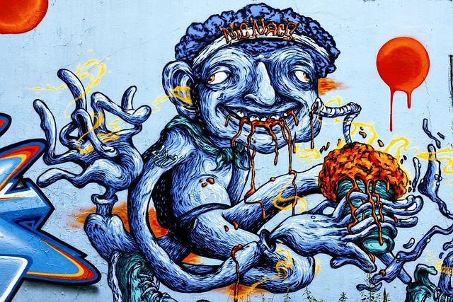 Grafitti, Graffiti, Street Art, Colorful, Color, Spray