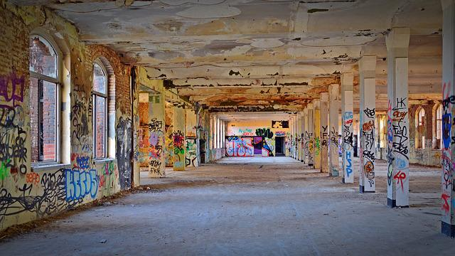 Lost Places, Factory, Pforphoto, Graffiti, Old