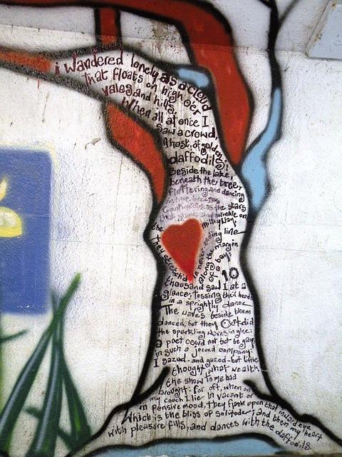 Graffiti, Wall, Wordsworth, Heart, Love, Exterior