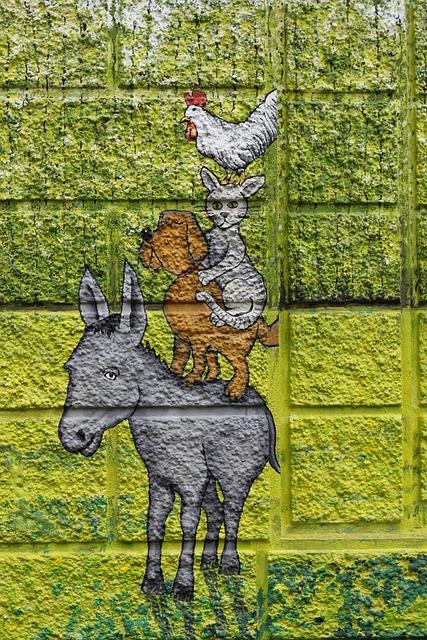 Town Musicians, Graffitti, Grafitti, Home, Wall