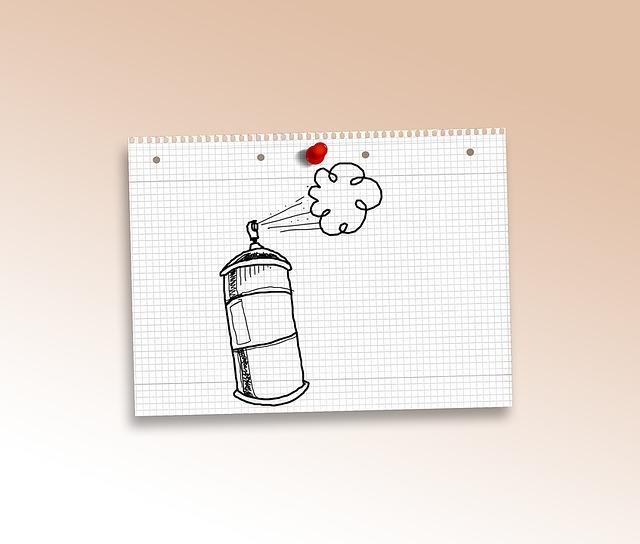 Doodle, Spray, Grafitti, Box, Paper, Diamonds, Pin