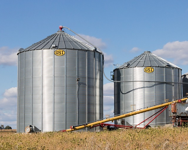 Farm, Silo, Agriculture, Field, Grain, Storage