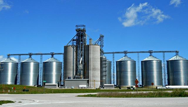 Silos, Grain, Storage, Industry
