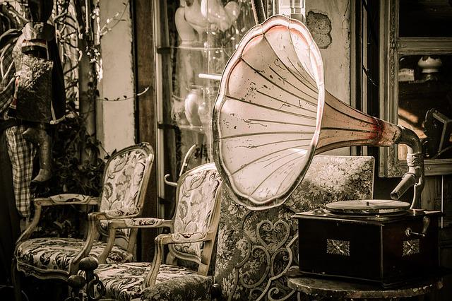 Flea Market, Gramophone, Music, Speakers, Melody