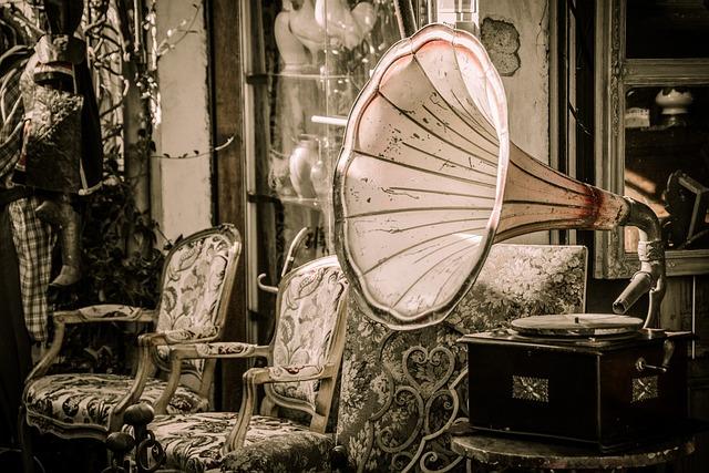 Flea Market, Gramophone, Music, Speakers, Melody