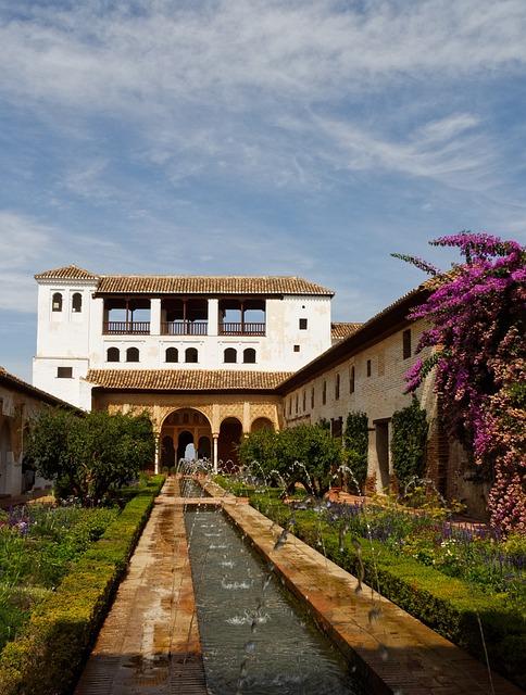 Alhambra, Building, Antique, Granada, Spain