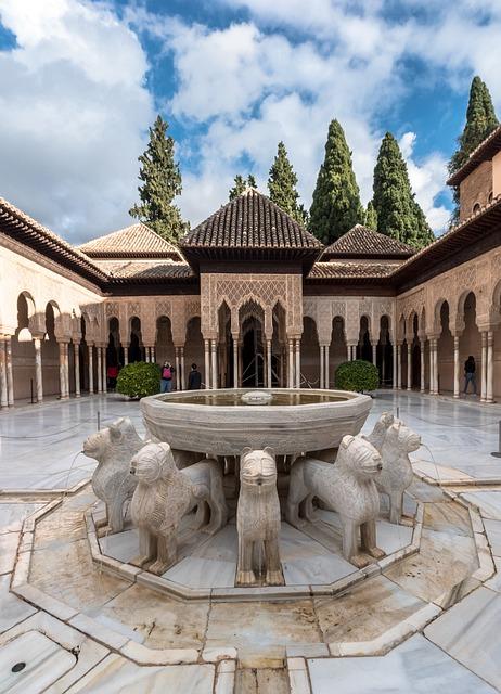 Lions, Alhambra, Granada, Cordoba, Spain, Andalusia