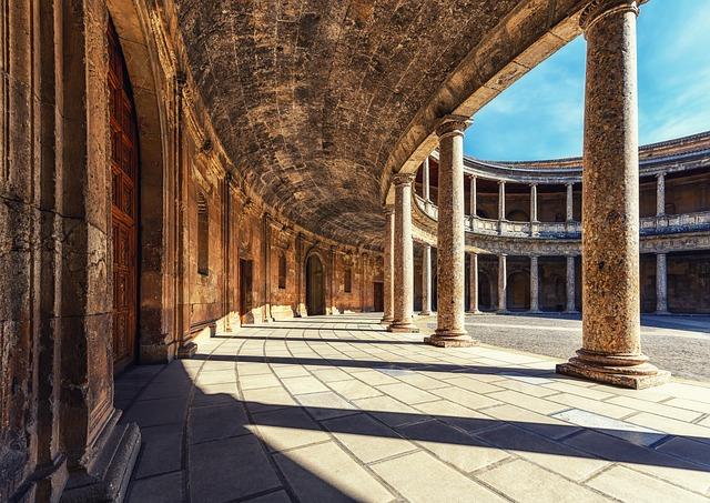 Architecture, Columnar, Palace, Alhambra, Granada