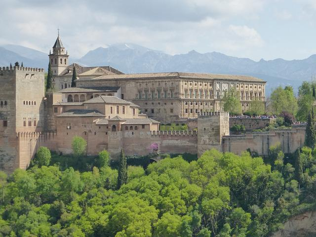 Spain, Granada, Alhambra, Village, City, Old