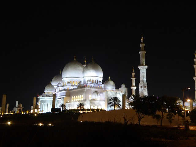 Grand, Mosque, Abu, Dhabi, Zayed, Black Mosque