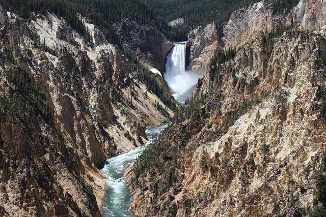 Yellowstone, National Park, Grand Canyon, Waterfalls