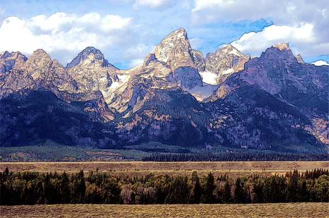 Grand Teton Mountains, Mountains, Rock, Grand, Teton