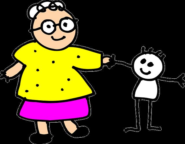 Grandma, Kid, Child, Grandmother, Senior, Grandchild