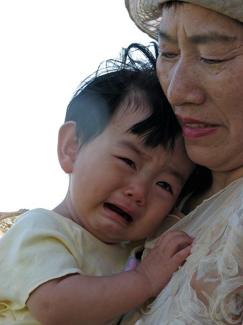 Kids, Cry, Grandson, Grandmother, Japanese, Antomasako