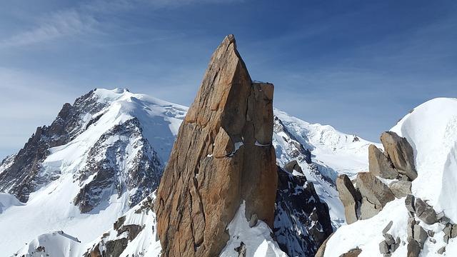 Cosmiques Ridge, Granite, Ridge, Rock