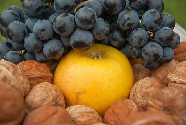 Grape, Nuts Apple, Fall, Fruit
