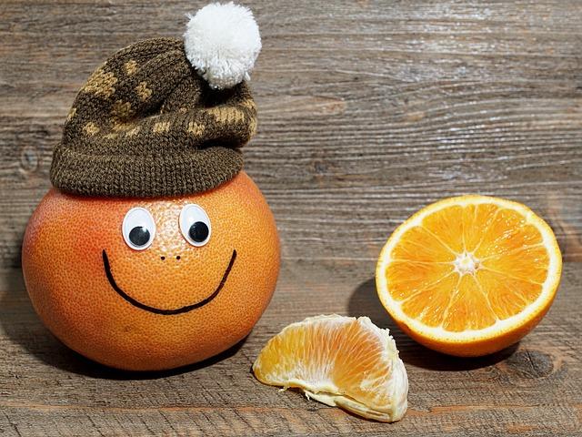 Fruit, Grapefruit, Faces, Cheerful, Fresh Fruit, Funny