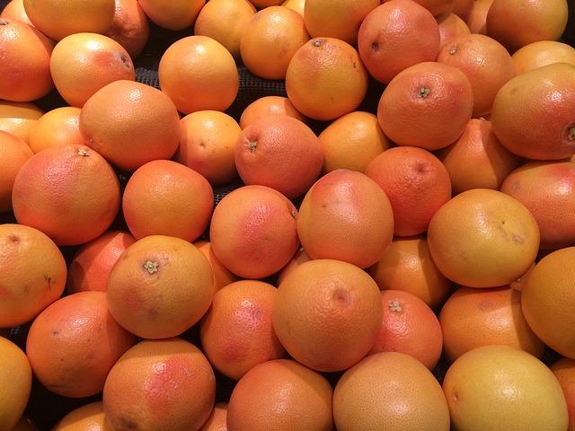 Grapefruit, Yellow, Pink, Orange, Fruit, Pile Up