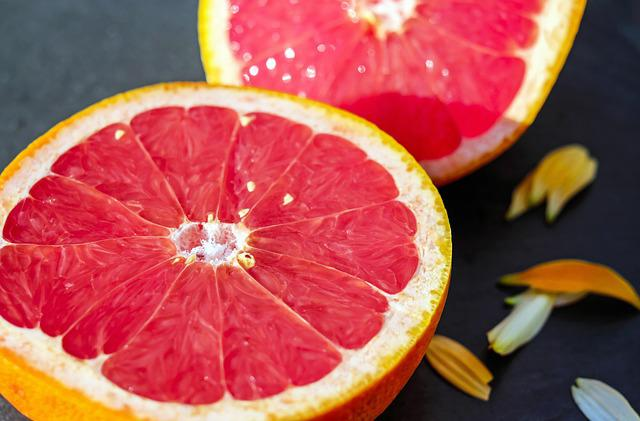 Grapefruit, Fruit, Red, Sweet, Vitamins, Eat
