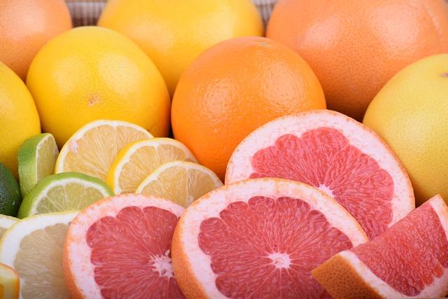 Grapefruit, Grapefruit Red, Grapefruit Yellow, Lemon