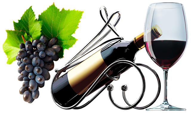 A Bottle Of Wine, Glass, Wine, Alcohol, Grapes, Berry