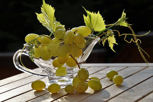 Grapes, Green, Lean, Tasty, Healthy Food, Foliage