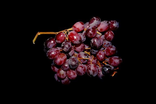 Grapes, Blue, Fruit, Food