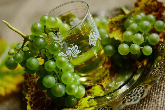 Grapes, Wine, White Wine, Wine Glass, Fruit