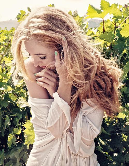 Girl, Summer, Grapes, Grape Field, Nature, Blonde