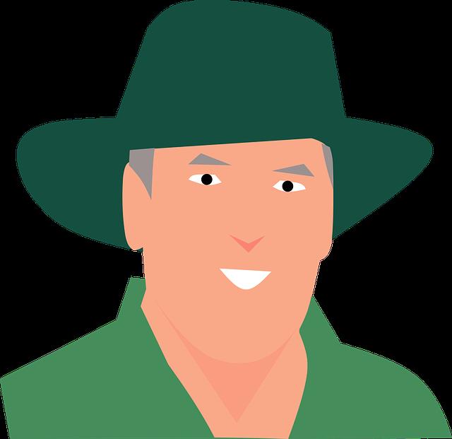 Man, Hat, Avatar, Cartoon Character, Graphic, Green